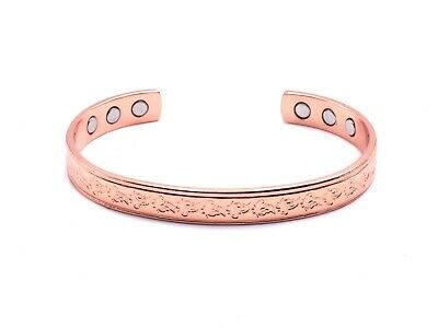 Magnetic Copper Bracelet Arthritis  Bio Pain Relief Pattern Bangle Unisex Tcb001