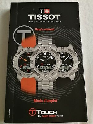 Tissot T-Touch User's Guide Manual
