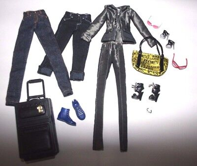 Lote Barbie Collector On Location, Barbie Basics Jeans. Model Muse outfits