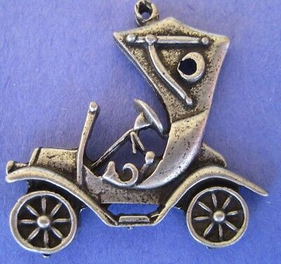 Car Model T Auto Antique Old Style Silver Charms Necklace Jewelry - New