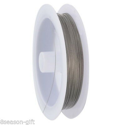 1Roll 70M Silver Tone Beading Wire 0.35MM