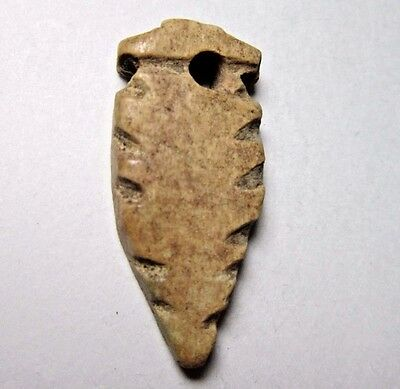 Ancient Egypt. Feather Bone Amulet. C.300 Bc-300 Ad. Usable Pendant. See Pics