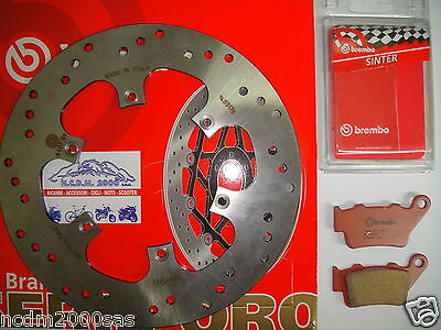 Brake Disc Brembo + Pads Rear Bmw 650 F 650 Gs / Abs 01 > 07 781