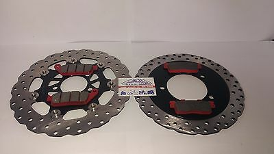 Set Discs Front And Rear E Pads Kymco Downtown 300