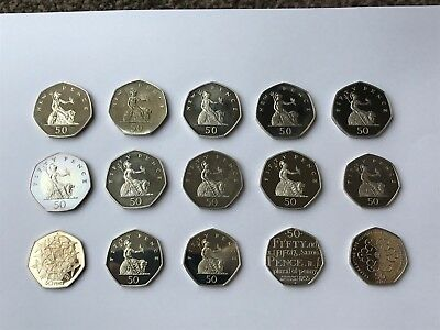 Royal Mint Proof 50P Fifty Pence Coins Multi Listing - Quick Sale