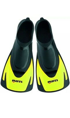 Mares Hermes Short Blade Swim Fins Yellow With Draw Strong Bag Size 8/9