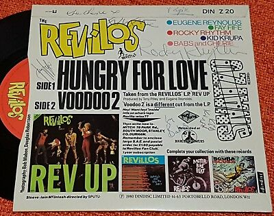 REVILLOS - Hungry For Love - 1980 Dindisc Vinyl SIGNED COVER Punk New Wave RARE