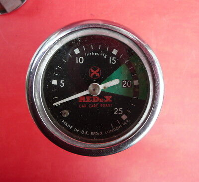 "Vintage Redex Vacuum Gauge 2"" Working"