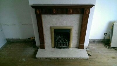 gas fire and surround used