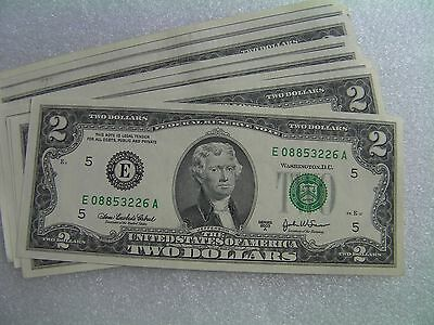 2003A Series E $2 bill two dollar banknote Federal Reserve USA uncirculated gift