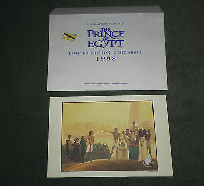 Vintage Dreamworks Movie Prince Of Egypt 1998 Limited Edition Lithograph, GUC