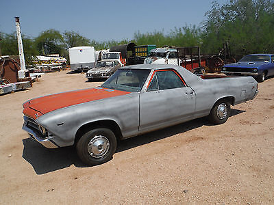 1969 Chevrolet El Camino Real Deal SS396 Factory Hugger Orange Soild AZ Car 1969 El Camino SS 396 Real Deal SS396 Factory Hugger Orange Soild Arizona Car