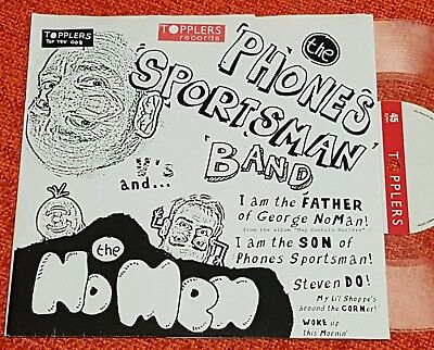 """PHONES SPORTSMAN BAND - I Am The Father - 2008 Topplers CLEAR VINYL 7"""" RARE Punk"""