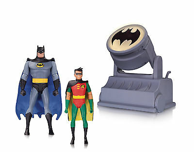 Dc Comics: Batman Animated Series Batman & Robin With Batsignal 3-Pack