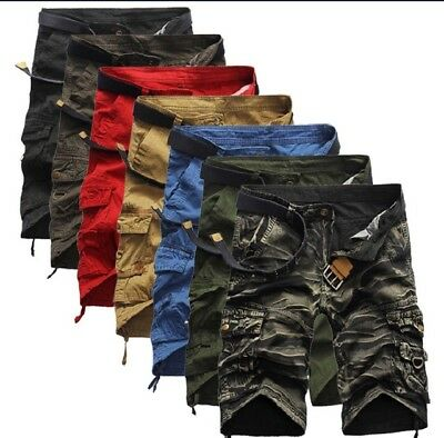 Men's Cargo Utility Shorts Lot of 34