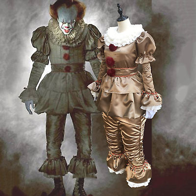 Stephen King IT 2017 Movie Pennywise Cosplay Costume The Clown Halloween Outfit