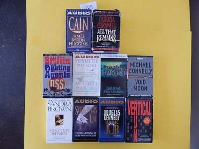 Lot of 10 Mixed Audio Books on Cassettes. L127