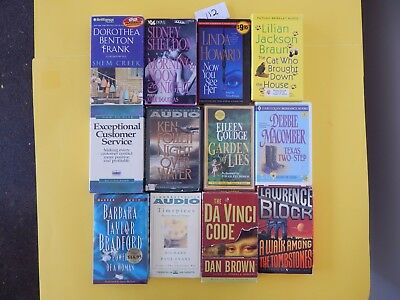 Lot of 12 Mixed Audio Books on Cassettes. L112