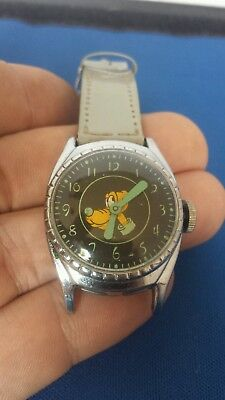 Very Rare 1948 Ingersoll/us Time Pluto Disney 20Th Birthday Character Watch Nice