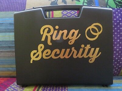 Ring Security Box, Ringbearer Ring Agent, Ring Security Briefcase, foam inside