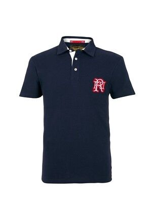 (Large, Z73 Navy) - Front Up Rugby Men's Short Sleeve Polo T-Shirt. Brand New
