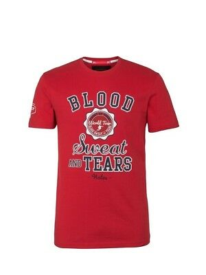(Medium, Z76 Red) - Front Up Rugby Men's Blood Sweat and Tears T-Shirt