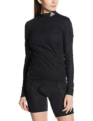 (X-Small, Black - black/Reflective silver) - Adidas Cycling Women's Base Layer