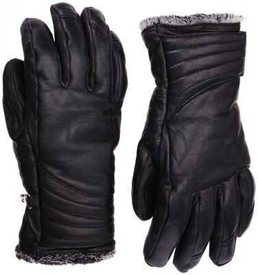 (X-Small, Black) - Salomon Women's Native Leather Glove -. Shipping is Free