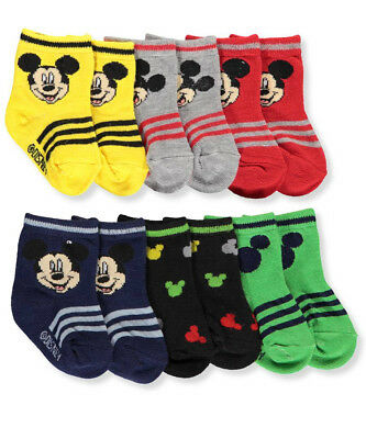 Disney Mickey Mouse Baby Boys' 6-Pack Crew Socks