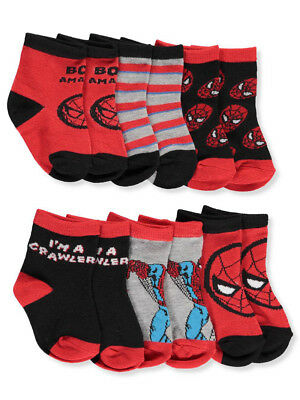 Marvel Baby Boys' 6-Pack Crew Socks