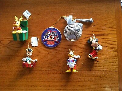 Disney Christmas Ornaments a lot of 6 different ornaments