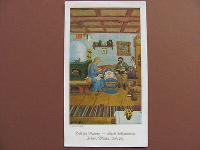 +Rare holy card  + Holy Names + from the German artist Josef Madlener ++