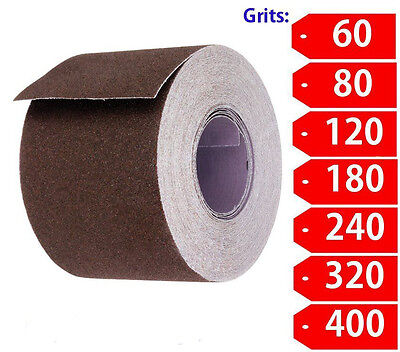 """2"""" Wide Emery Cloth 10ft Roll, Emery Roll, Cloth Back- Choose Your Grit"""