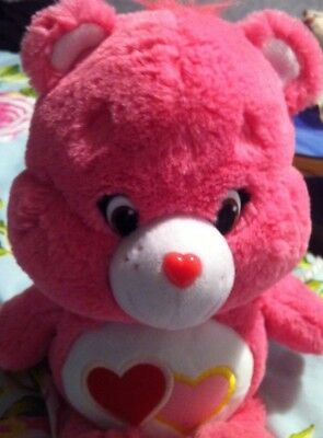 Pink Care Bear Pink Love A Lot 2015 Soft Plush Toy Just Play LLC Gift