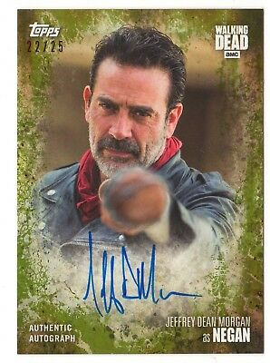 Jeffrey Dean Morgan As Negan - 2017 The Walking Dead Season 7 Autograph Auto /25