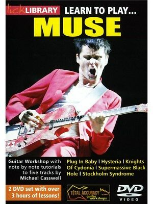 Lick Library: Learn To Play Muse. Guitar 2 x DVD (Region 0)