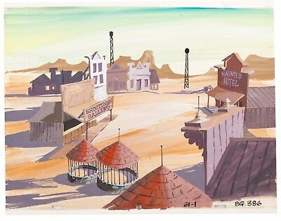 Scooby Doo (1969) Original Production Background obg painted cel FIRST SEASON