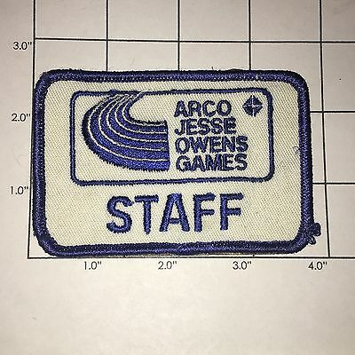 Arco Jesse Owens Games Staff Patch - Vintage