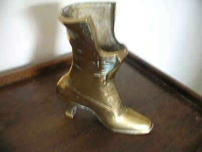 Large Vintage Heavy Brass Boot