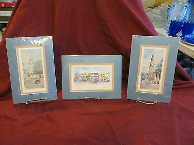 Vintage Lot of Three Prints Signed only by Jeanie Drucker IN MATTS