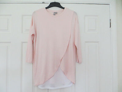 Lovely pink/white maternity top size 12 from Asos BNWOT