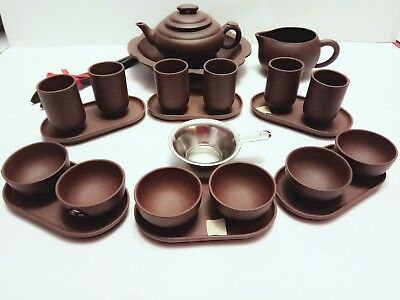 Yixing China 23 Piece Chinese Kung fu Tea set.