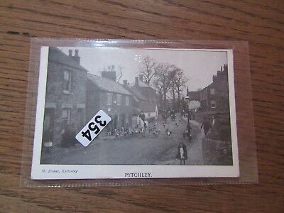 Pytchley   Village  View    R/p Postcard  Northants  Posted 1904 Fox Hunting