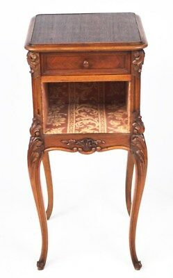 Antique French Style Carved Bedside Cabinet - FREE Shipping [PL3956]