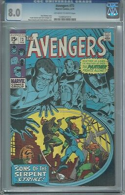 Cgc 8.0 Avengers #73 Black Panther Appearance