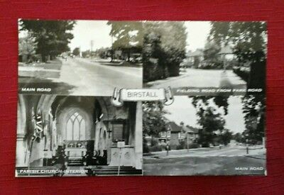Birstall multiview  vintage postcard, fielding road,park road, leicester