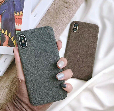 Luxury Matte Cloth Grain Slim Soft Silicone Case Cover For iPhone X Xs Max Xr 8