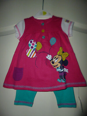"""Disney at George zauberhaftes 2tlg Outfit """"Baby Minnie Mouse"""" Gr:Fiste Size Neu"""