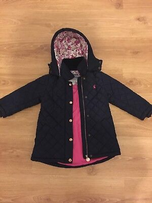 Girls navy joules Coat Age 3 Bought Last Year From John Lewis