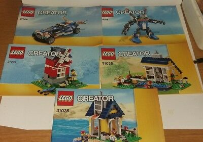 Lego instruction manuals Creator various